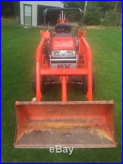 2002 KUBOTA BX22 4X4 COMPACT TRACTOR With LOADER AND BACKHOE