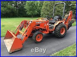 2002 Kubota B2910 Tractor 4x4 Hydrostatic Kubota Loader Woods Backhoe