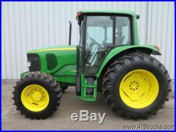2003 JOHN DEERE 6420 MFWD 4 WHEEL DRIVE FARM SERVICE UTILITY TRACTOR LOW HOURS