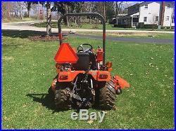 2003 Kubota BX2200 Sub Compact 4x4 4WD 22HP Diesel Hydro Tractor w 60 deck, FEL