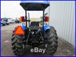 2003 NEW HOLLAND TN75 UTILITY FARM TRACTOR MFWD 4X4 4 WHEEL DRIVE 588 LOW HOURS