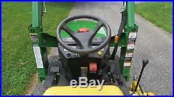 2004 JOHN DEERE 2210 4X4 TRACTOR With LOADER & BELLY MOWER HYDRO 22HP DIESEL