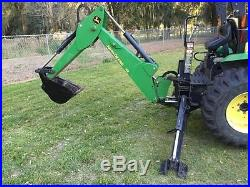 2004 JOHN DEERE 4410 4WD HYDROSTATIC TRACTOR With LOADER AND BACKHOE 35HP DIESEL