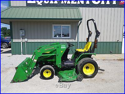 2004 John Deere 4010 Compact Utility Tractor 4X4 Loader Belly Mower JD Lawn