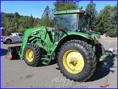 2004 John Deere 7720 187 HP Ag Tractor Farm A/C Cab 3 Point Hitch Aux bidadoo