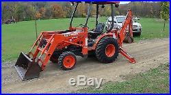 2004 Kubota B21 Tractor, Loader, Backhoe And Canopy
