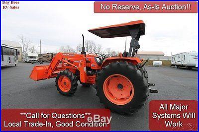 2004 Kubota 5700 LA1002 Tractor 4x4 57HP Diesel Engine Hydrostatic Transmisson