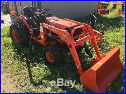 2004 Kubota B7400HST Diesel Compact Tractor with New Woods LS72 Front End Loader