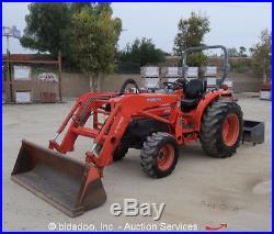 2004 Kubota L3830D 4WD Diesel Tractor Loader Utility Ag Farm Box Scraper bidadoo