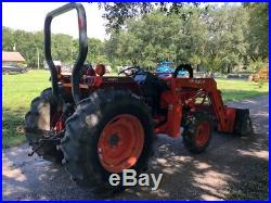 2004 Kubota L4300 DT 4x4 Farm tractor with 1200 hrs R1 tires 45 HP Very clean