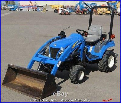 2004 New Holland TZ22DA 4x4 Loader Utility Tractor 22HP Mid/Rear PTO 3pt Hitch