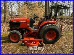 2004 kubota B- 2910 diesel 4 WD tractor and 72 belly mower with 462 hours