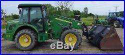 2005 John Deere 3800 Agricultural Telehandler Forklift Heat/AC 110HP Bucket