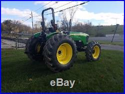 2005 John Deere 5525 Farm AG Tractor Farm Machinery Diesel Hydraulic 91HP 4x4