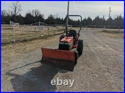 2005 Kubota B7610 Compact Diesel Tractor With Snow Blade 514hrs