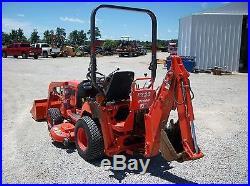 2005 Kubota BX23 tractor/loader/backhoe, 4WD, Hydro, 54 belly mower, Diesel