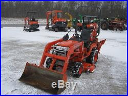 2005 Kubota BX23 tractor/loader/backhoe with belly mower, hydro, 4WD, 684 hours
