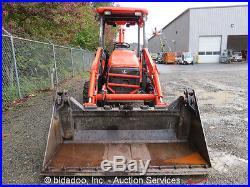 2005 Kubota L39 4x4 Backhoe Front Loader Tractor PTO 4 in 1 Bucket 42 Forks