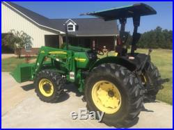 2006 JOHN DEERE 5105 4x4 TRACTOR With522 LOADER, 45 HP, 3PT, 540 PTO, 257 HRS