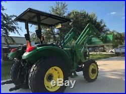 2006 John Deere 5325 4wd Tractor 542 Loader Bucket Rotary Cutter Low Hours