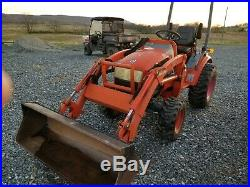 2006 Kioti CK20H tractor loader 22 hp diesel 4x4 HST used compact hole in engine