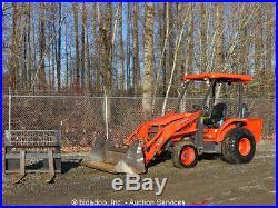 2006 Kubota L39 4WD Utility Tractor Diesel PTO 4in1 Bucket Aux Hyd Fork Attach