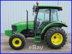 2007 JOHN DEERE 5325 DIESEL UTILITY FARM TRACTOR CAB AIR COND 4x4 MFWD 4WD