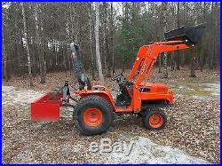 2007 KIOTI LB1914 20 HP 4WD TACTOR WITH FRONT END LOADER BOX BLADE SHUTTLE SHIFT