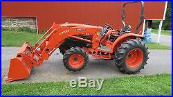 2007 KUBOTA GRAND L3940 4X4 COMPACT UTILITY TRACTOR With LOADER HYDRO 1150 HOURS