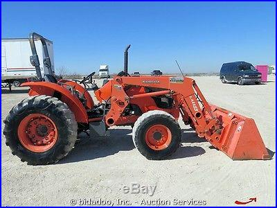 2007 Kubota M7040DT 4x4 Utility Farm Tractor LM1153 84 Front Loader PTO 3-Point
