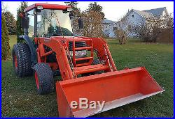2007 L3430 Kubota tractor 4x4 cab, quick-tatch loader, wheel weights, low hours