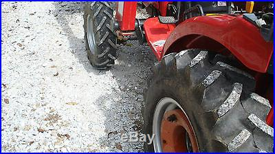 2008 MAHINDRA 4X4 LOADER FARM TRACTOR FINISH MOWER TILLER BLADE RAKE POST HOLE