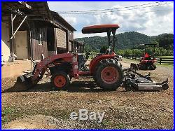 2008 kubota L4240 Tractor, Loader 903 hours With King Kutter 84 Rear Stainless