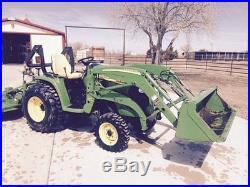 2009 John Deere 3320 Loader Tractor JD with Front and 2009 Bush Hog