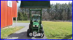 John Deere X Compact Utility Cab Tractor With Loader Hydro Hrs Sxf