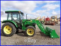 2010 John Deere 5083E Tractor, Cab/Heat/Air, 4WD, Loader, PowerReverser, 442Hrs