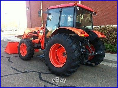 2010 Kubota M100X 4x4 Enclosed Cab Tractor with Loader Asking Price $14300