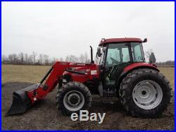 2011 Case IH Farmall 95 Tractor, Cab/Heat/Air, 4WD, CIH L735 FL, 1,120 Hours