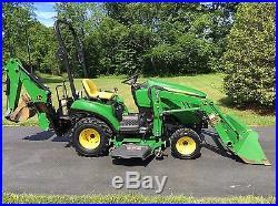 John Deere E Tractor Loader Backhoe D Mid Mower Ycd