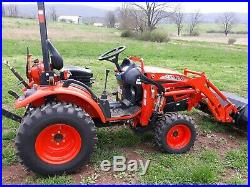 2011 KIOTI CK20S COMPACT TRACTOR LOADER 22 HP diesel 4x4 gear used 180 HRS