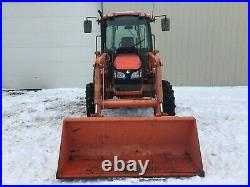 2011 KUBOTA M7040D TRACTOR With LOADER, CAB, 492 HRS, 4X4, NO EMISSIONS OR DEF