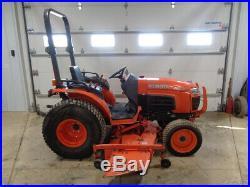 2011 Kubota B3200 Tractor, 4WD, Hydro, 72 Belly Mower, 32HP Diesel, 1,901 Hours