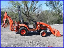 2011 Kubota BX25D 4WD Loader Tractor Backhoe Utility Ag Farm Diesel