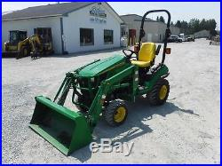 2012 JOHN DEERE 1026R 4x4 TRACTOR WithLOADER, HYDROSTATIC, 155 HRS IMMACULATE