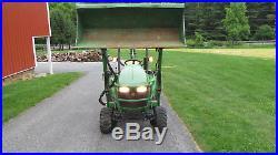 2012 John Deere 1023e 4x4 Compact Tractor Loader Backhoe Diesel 321 Hours