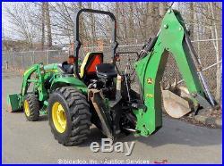 2012 John Deere 3320 Backhoe Wheel Loader Ag Tractor 32HP Diesel PTO Aux Hyd