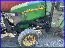 2012 John Deere 3520 4x4 Hydro Compact Tractor with Cab & Snow Blade 1000 Hours