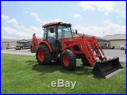 2012 Kioti Rx6010c Cab Tractor Loader Backhoe 412 Hours 59 HP Gear Shuttle Shift