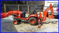 2012 Kubota BX25D 4x4 Compact Backhoe Wheel Loader Tractor PTO Diesel bidadoo