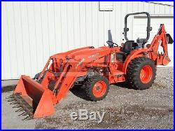 2012 Kubota L3800 Tractor Loader Backhoe, 185 Hours, Hydro, 4x4, Local 1 Owner